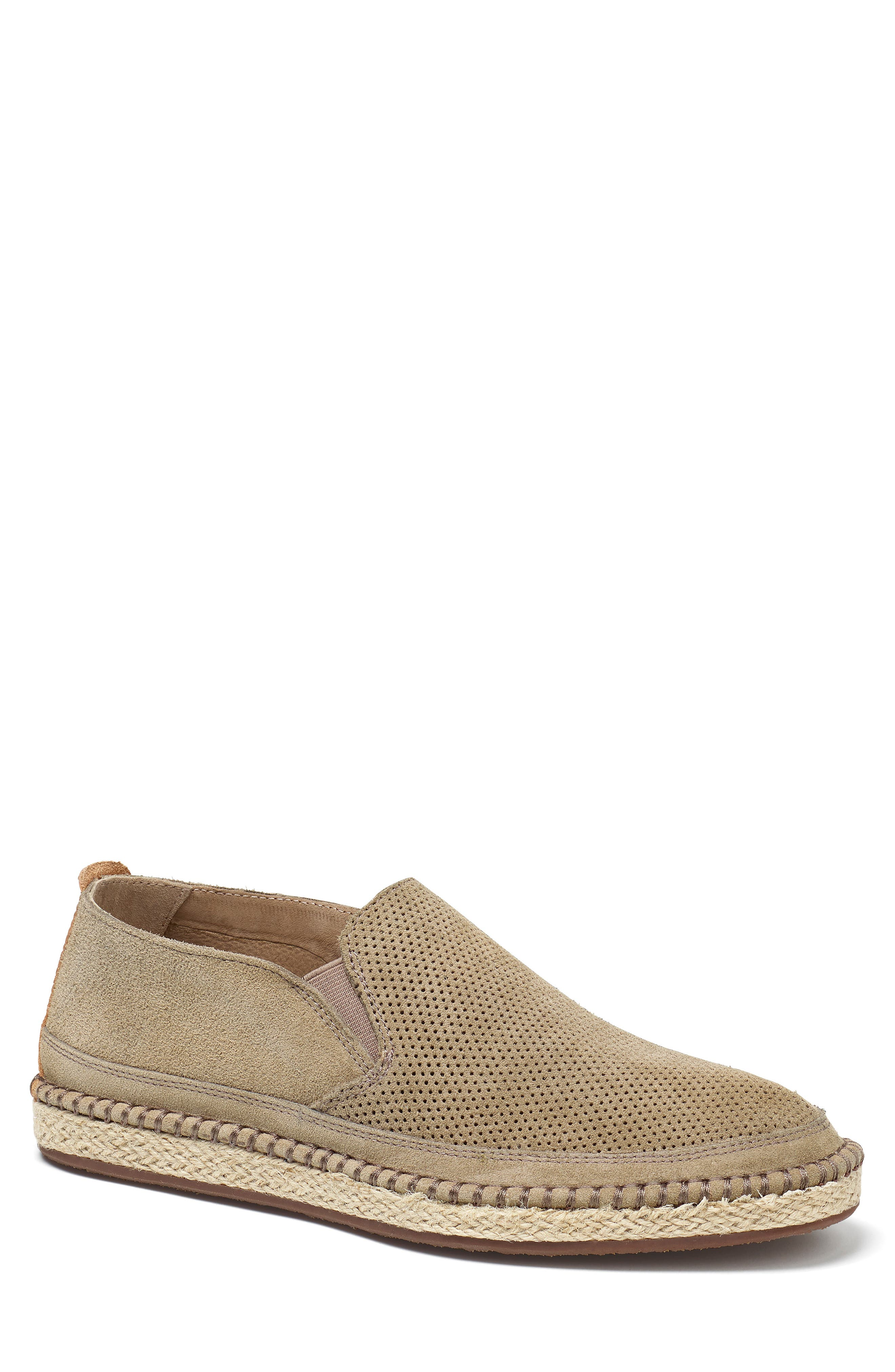 ,                             Braxton Loafer,                             Main thumbnail 1, color,                             TAUPE SUEDE