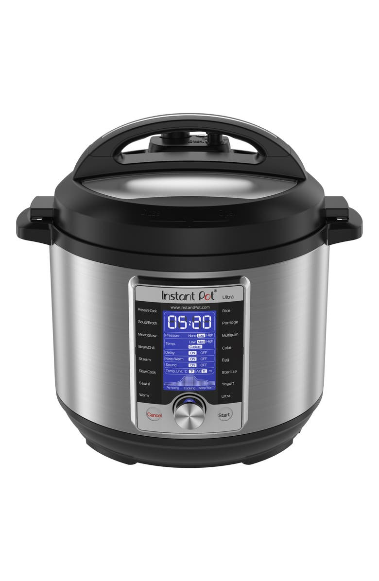 INSTANT POT Ultra 6-Quart 10-in-1 Multiuse Programmable Cooker, Main, color, SILVER