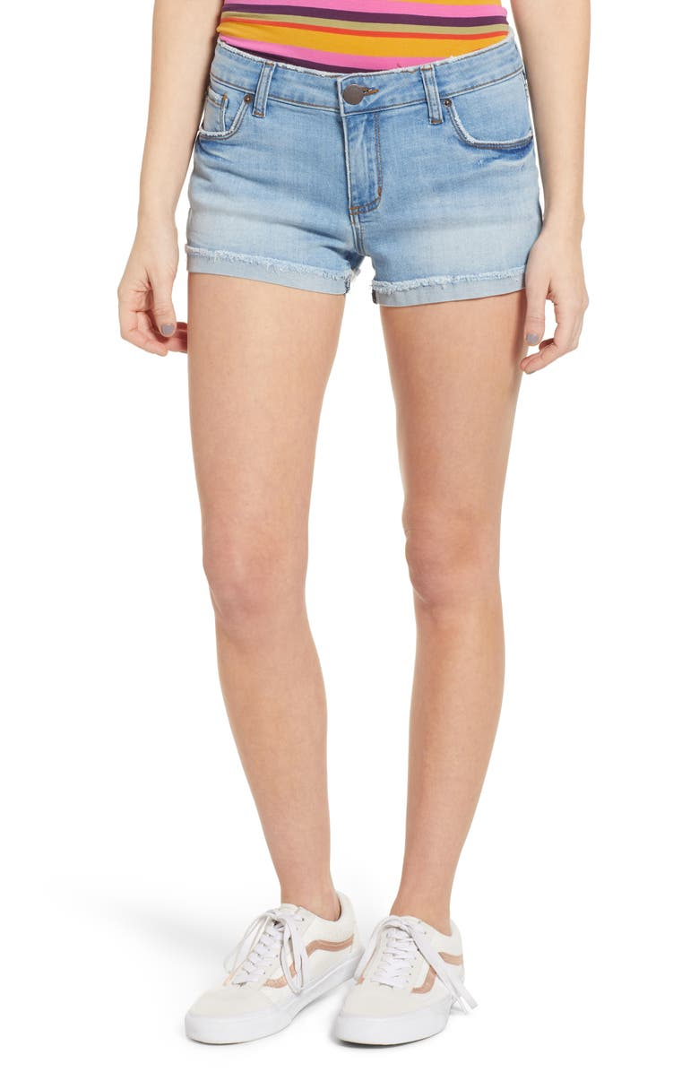 STS BLUE Molly Cuffed Denim Shorts, Main, color, 400