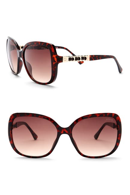 Image of GUESS 61mm Oversized Sunglasses