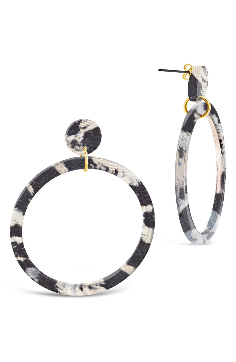STERLING FOREVER Stud Hoop Earrings, Main, color, 027