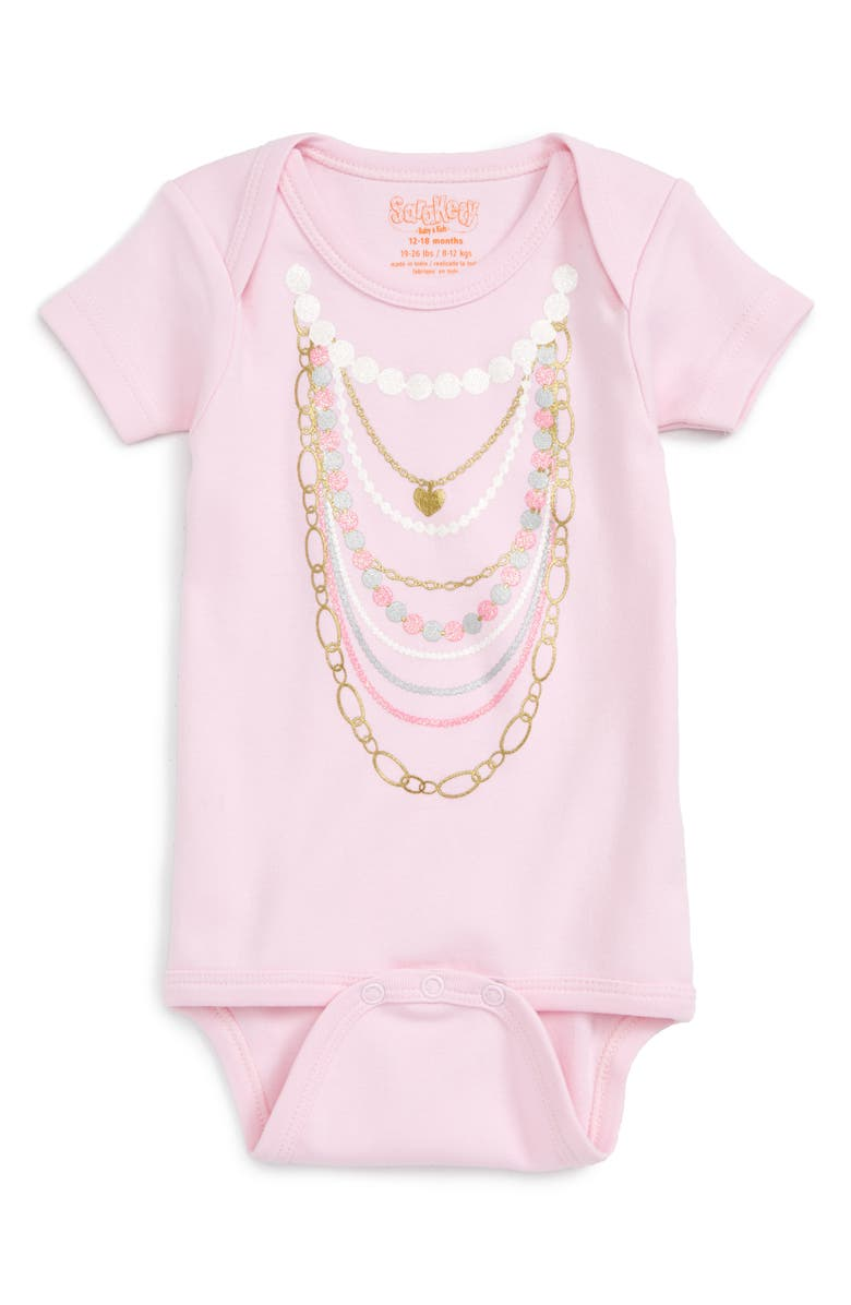 SARA KETY BABY & KIDS 'Necklaces' Bodysuit, Main, color, 650