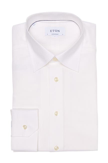 Image of Eton Solid Contemporary Fit Dress Shirt