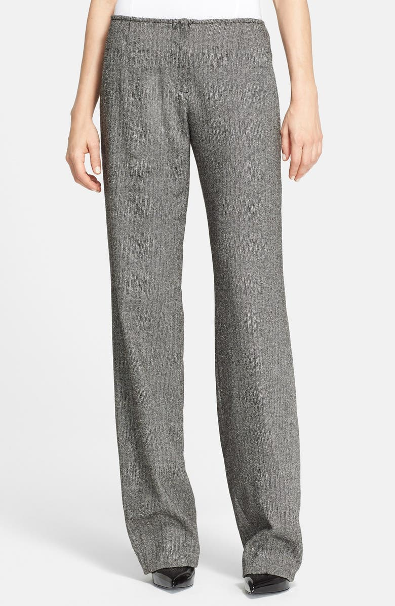 ALICE + OLIVIA 'Hart' Herringbone Pants, Main, color, 017