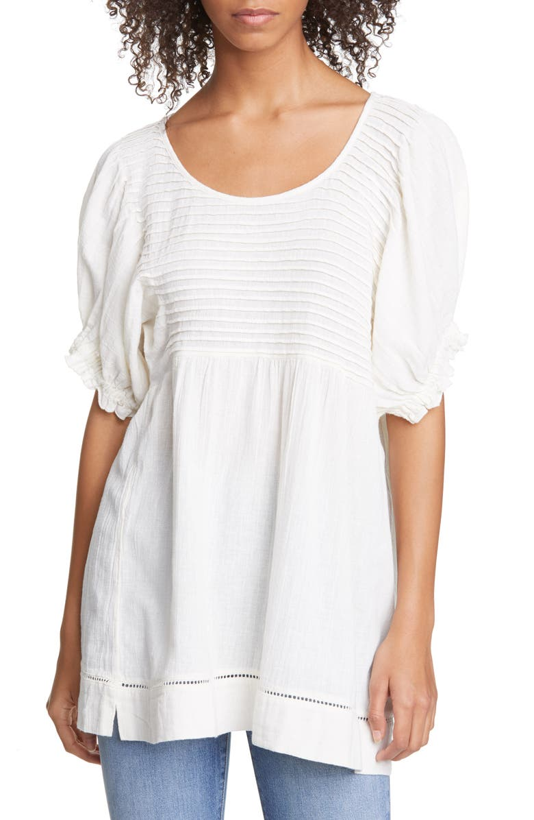 FREE PEOPLE Elsie Tunic Top, Main, color, WHITE COMBO