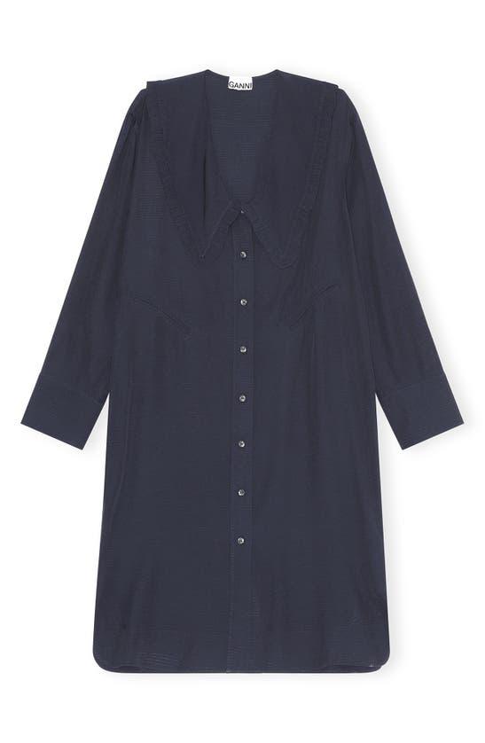 Ganni Shirts RIPSTOP LONG SLEEVE SHIRTDRESS