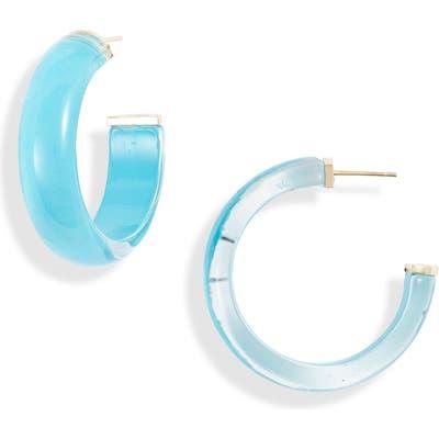 Argento Vivo Lucite Hoop Earrings