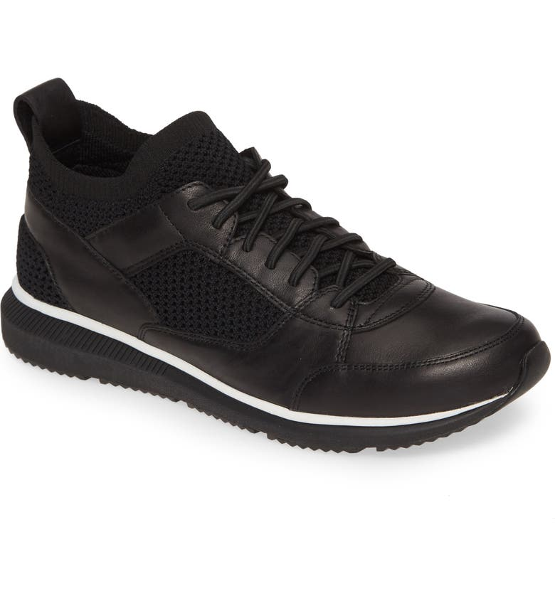 EILEEN FISHER Expo Sneaker, Main, color, BLACK LEATHER