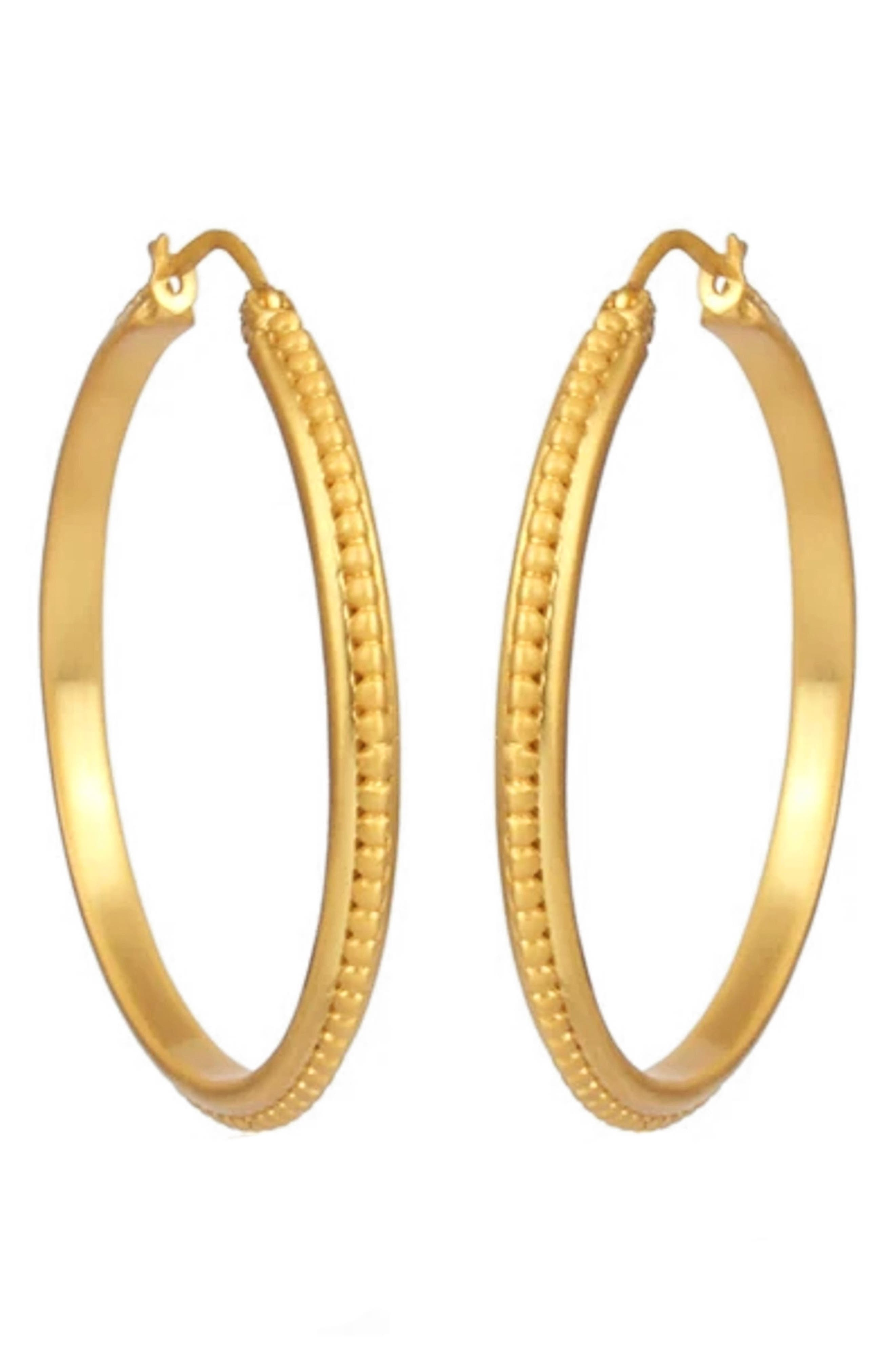 Studded Hoop Earrings
