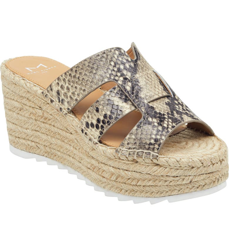 MARC FISHER LTD Robbyn Espadrille Wedge Sandal, Main, color, SNAKE EMBOSSED LEATHER