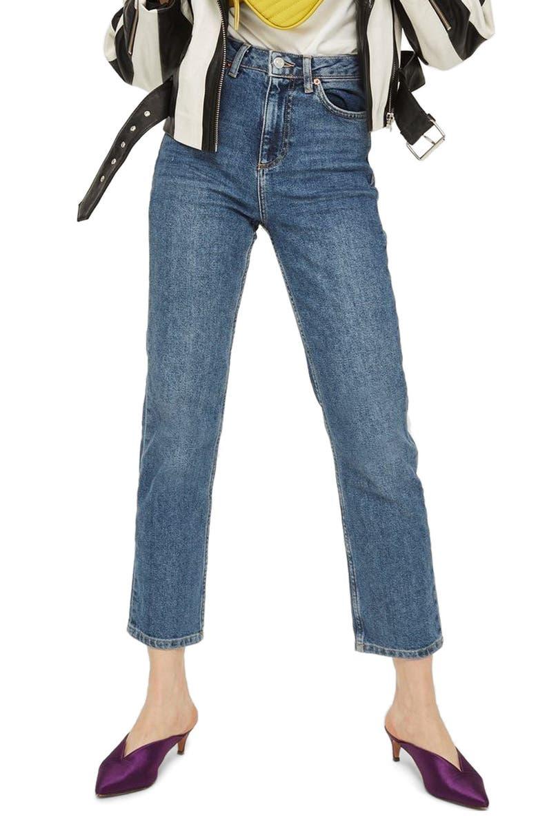 TOPSHOP Straight Leg Jeans, Main, color, 420