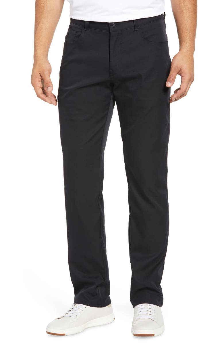 PETER MILLAR Five-Pocket Performance Pants, Main, color, BLACK