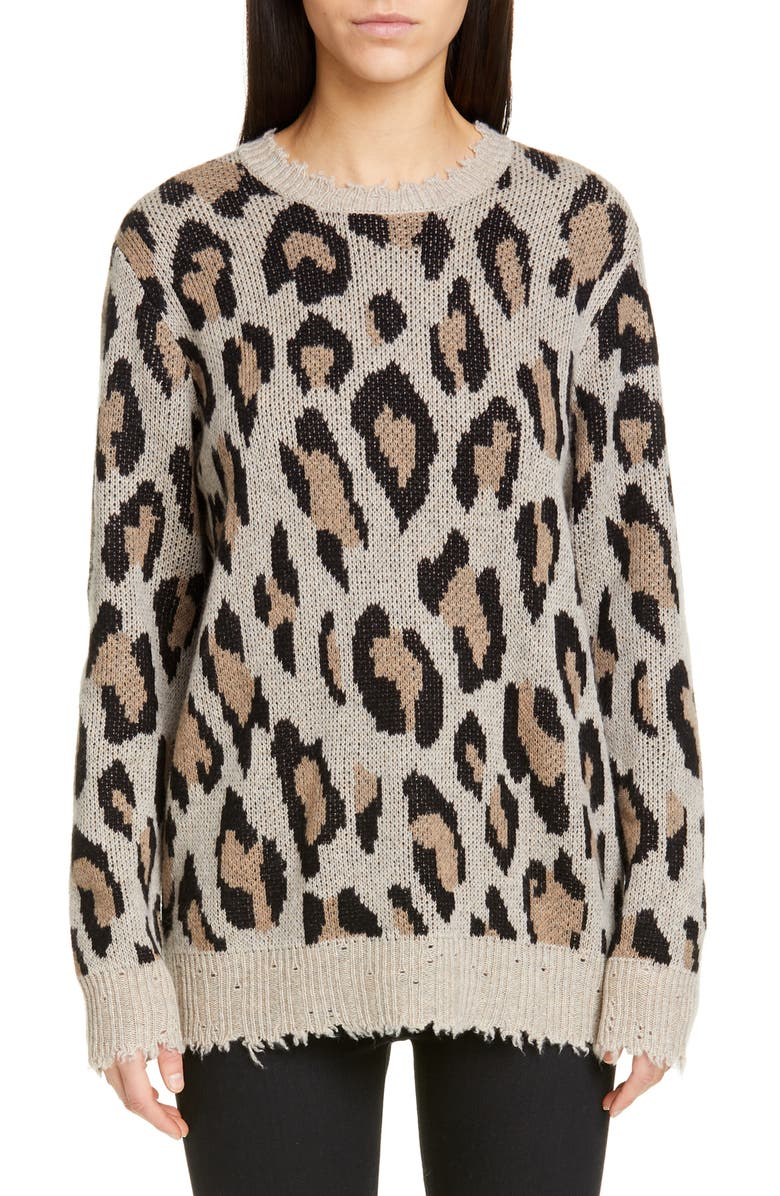 Leopard Cashmere Sweater by R13