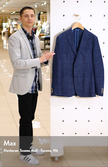Classic Fit Check Wool Blend Sport Coat, sales video thumbnail