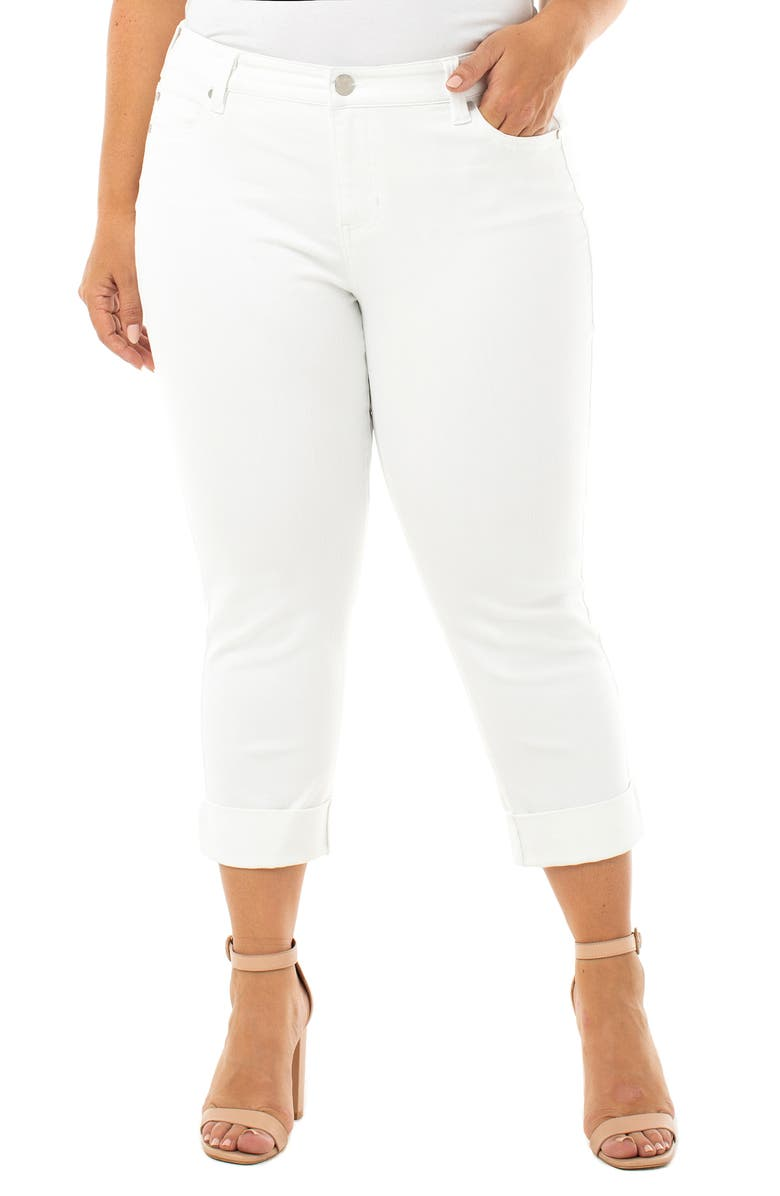 LIVERPOOL Charlie Crop Jeans, Main, color, BRIGHT WHITE