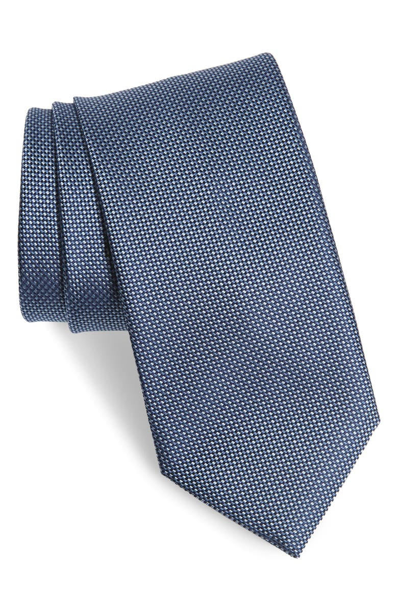 BRIONI Geometric Silk Tie, Main, color, BLUE