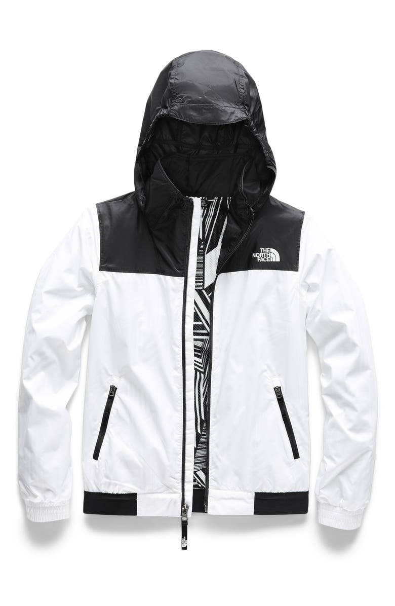 THE NORTH FACE Windy Crest Water Repellent Jacket, Main, color, TNF WHITE PATCH STRIPE PRINT