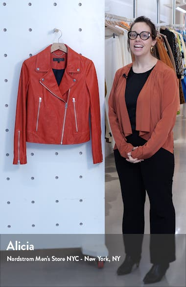 Mack Lambskin Leather Jacket, sales video thumbnail