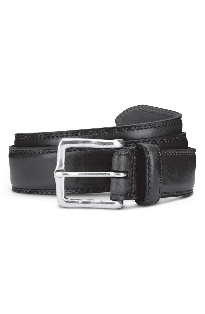 ALLEN EDMONDS Wide Street Leather Belt, Main, color, BLACK