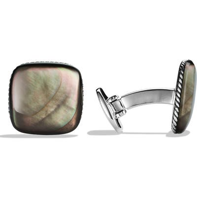 David Yurman Streamline Cuff Links With Black Mother-Of-Pearl