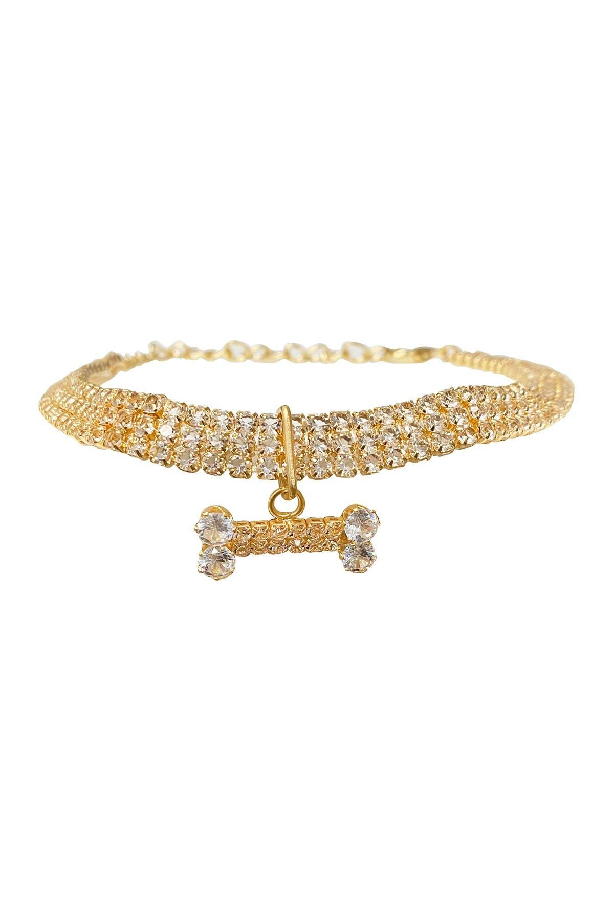 Image of Dogs of Glamour Carti Luxury Bone Pendant Gold - Medium