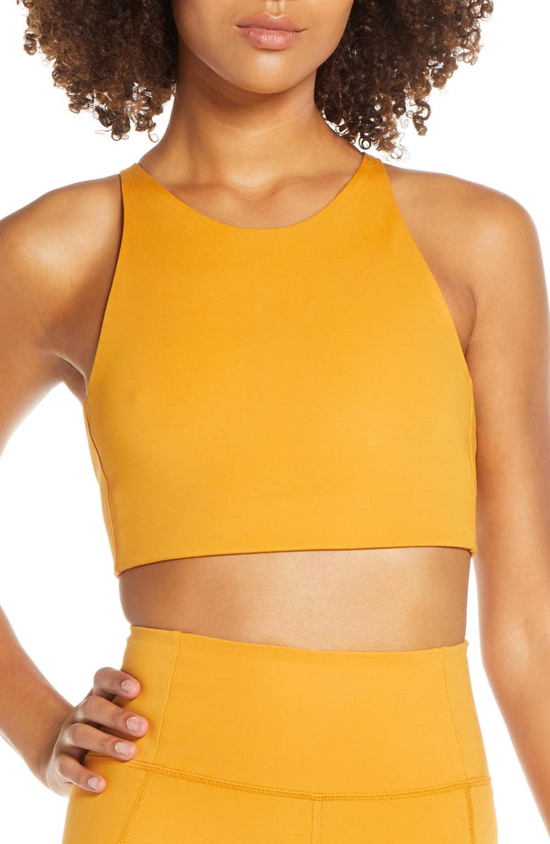 GIRLFRIEND COLLECTIVE Topanga Sports Bra, Main, color, HONEY