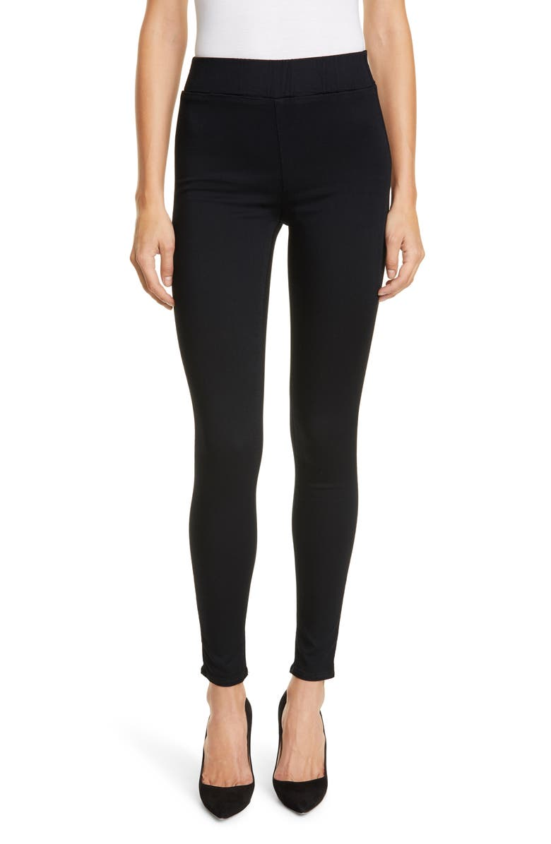 L'AGENCE Rochelle Pull-On Skinny Jeans, Main, color, NOIR