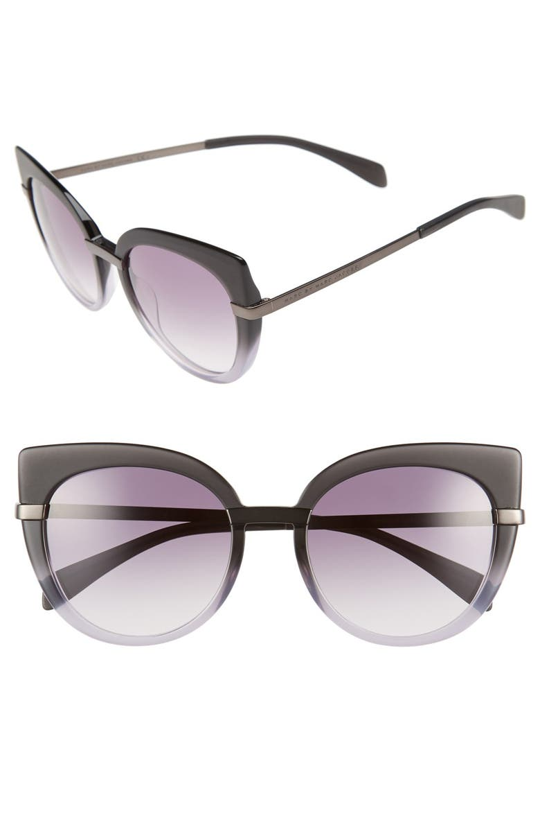 MARC BY MARC JACOBS 54mm Cat Eye Sunglasses, Main, color, 001