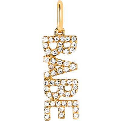 Ef Collection Diamond Babe Pendant Charm