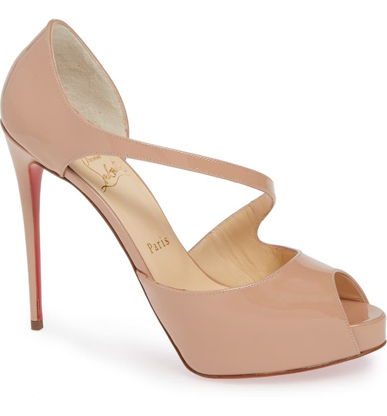 CHRISTIAN LOUBOUTIN Catchy Peep Toe Pump, Main, color, 250