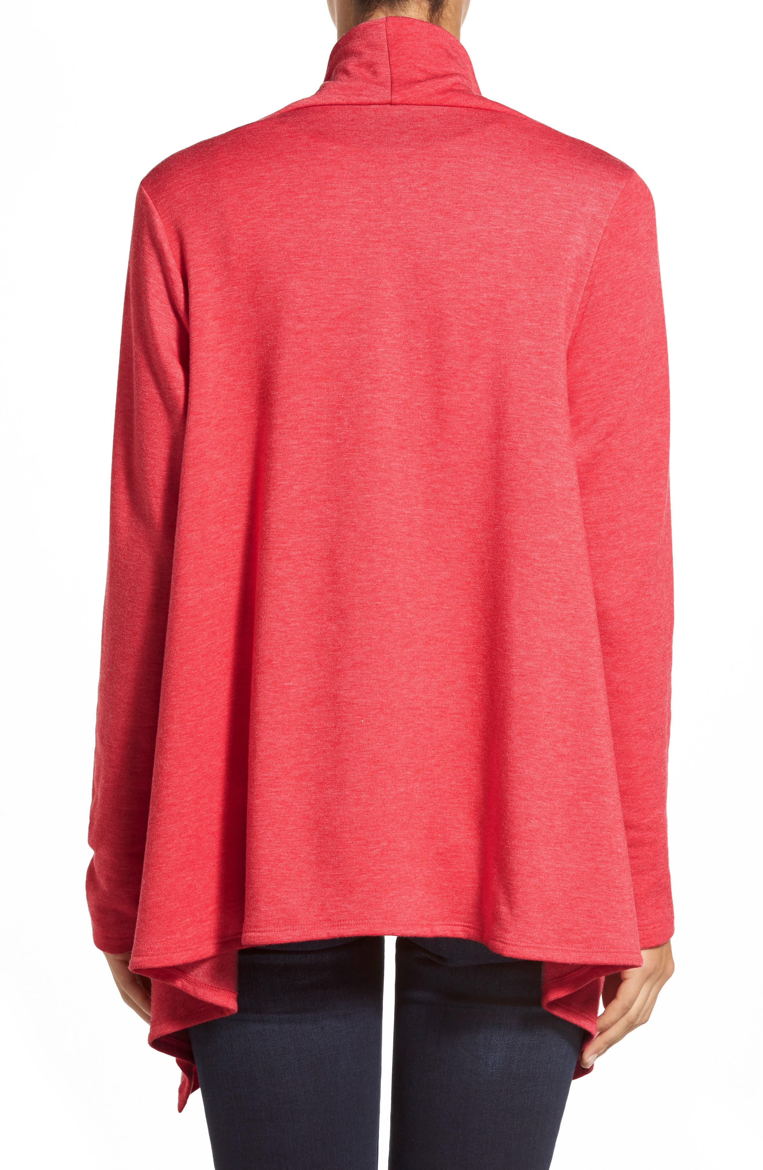 ,                             One-Button Fleece Wrap Cardigan,                             Alternate thumbnail 21, color,                             649