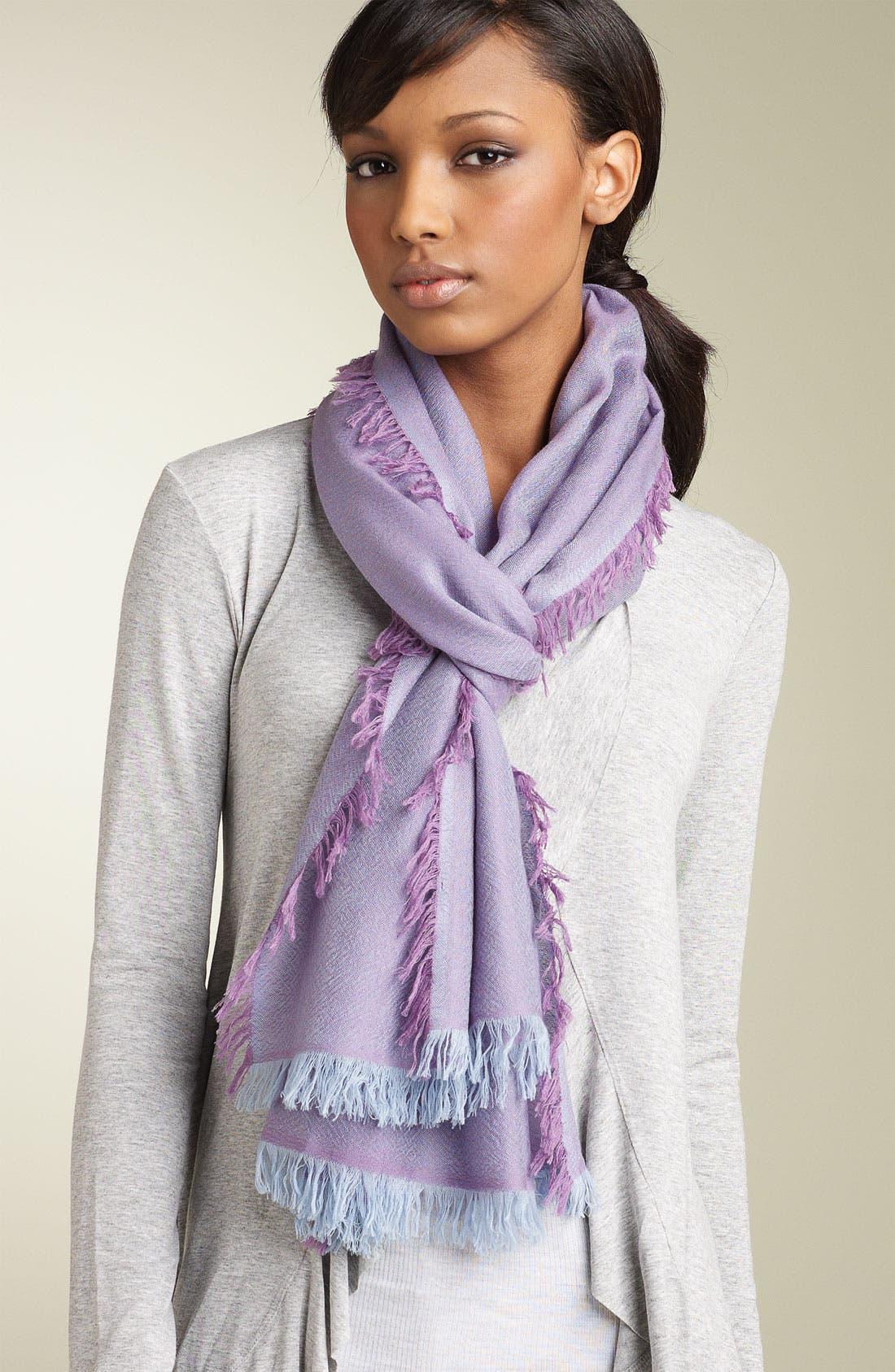 ,                             'Eyelash' Colorblock Cashmere Wrap,                             Main thumbnail 74, color,                             550