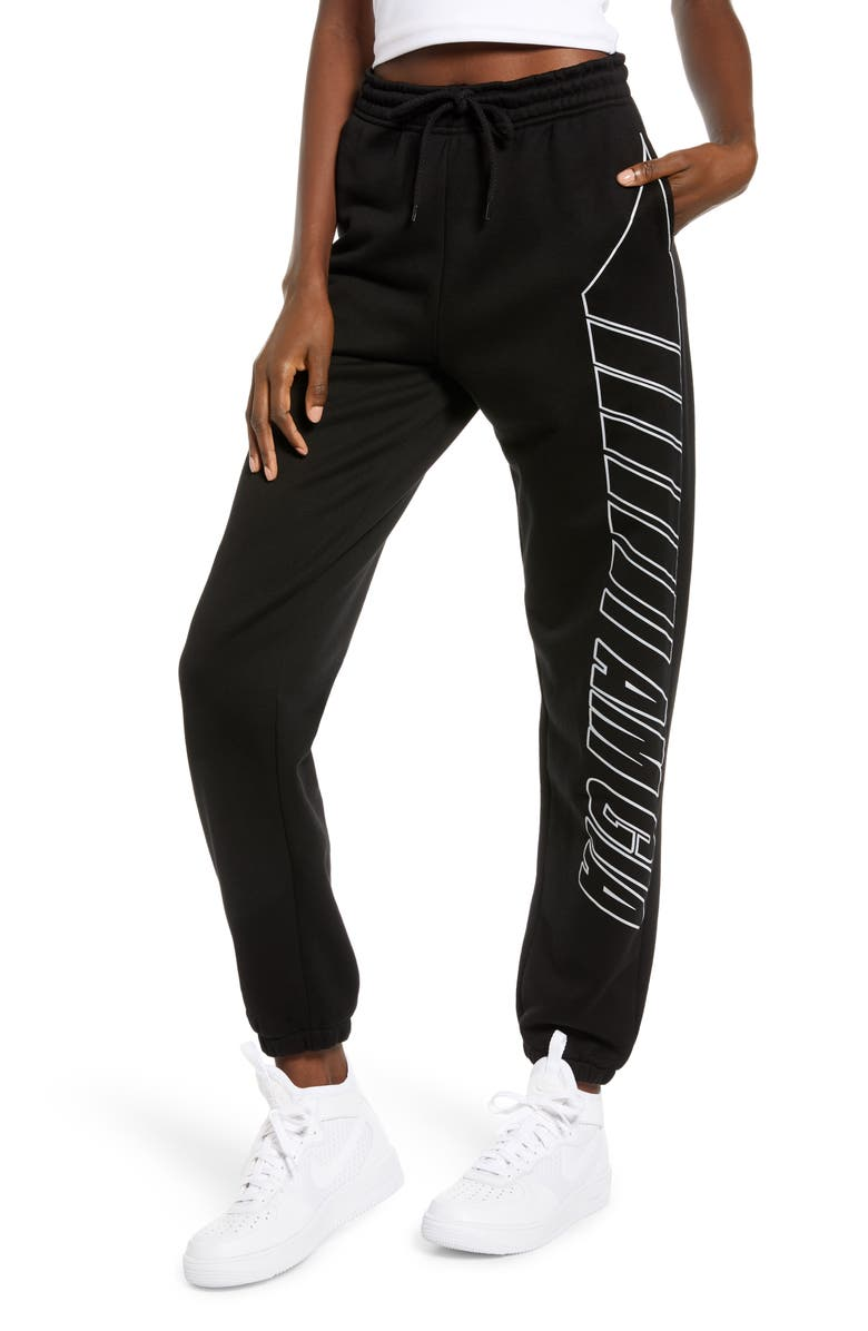 I.AM.GIA Taja Track Pants, Main, color, BLACK