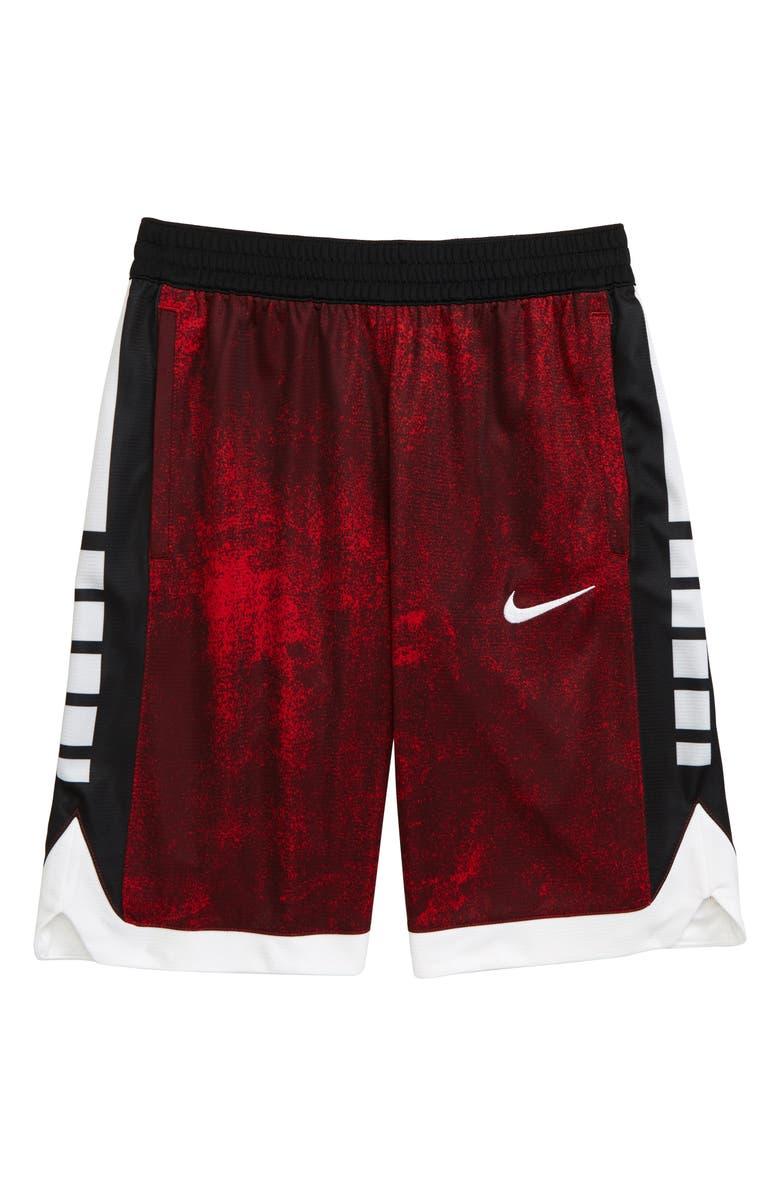 NIKE Dry Elite Super Athletic Shorts, Main, color, UNIVERSITY RED/ BLACK