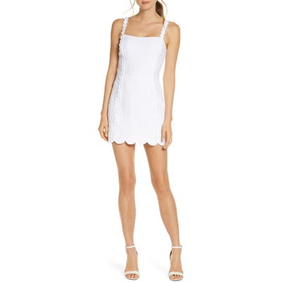 Lilly Pulitzer Jesse Metallase Romper Mindress, White