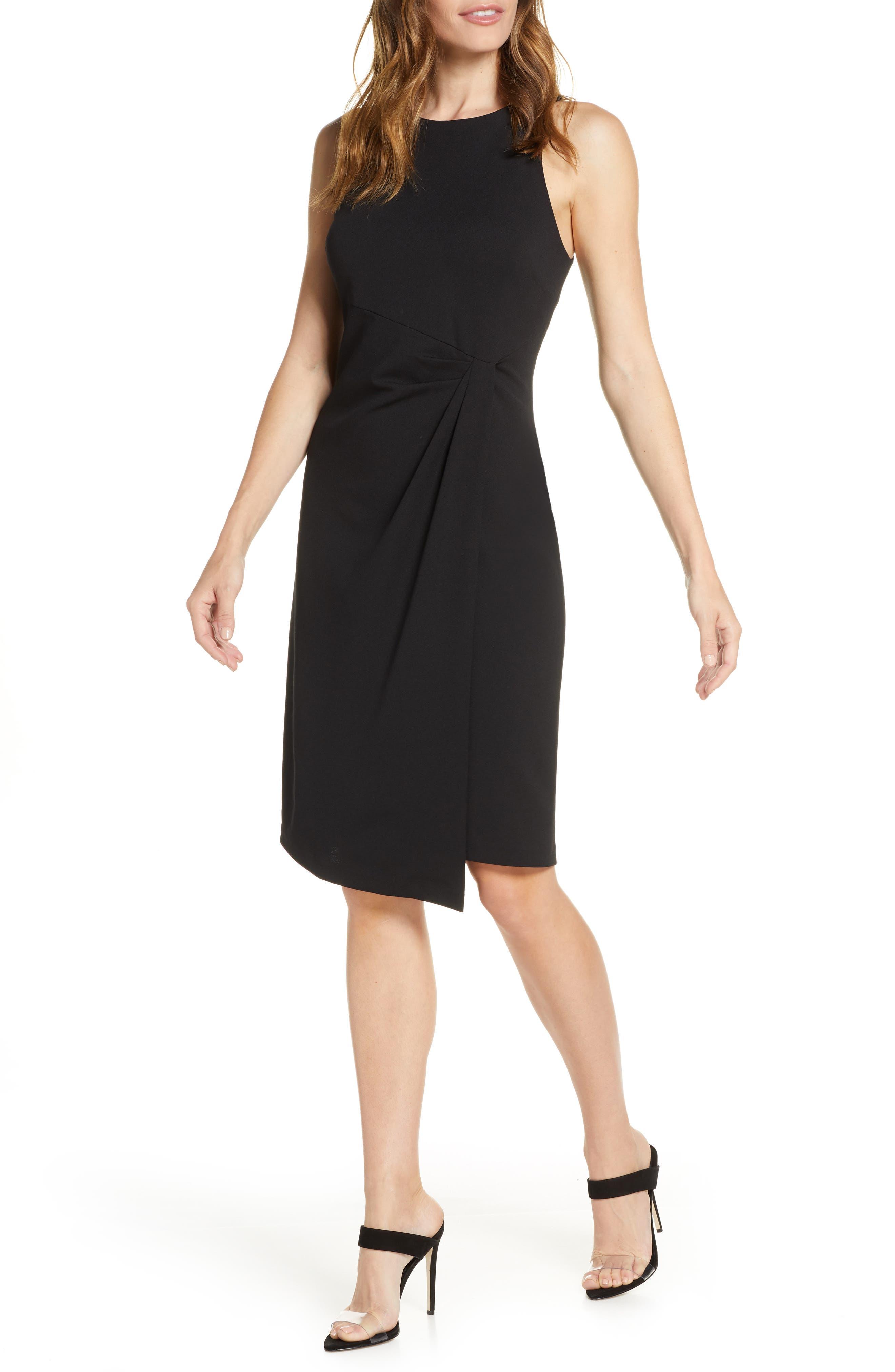 Julia Jordan Knot Detail Sheath Dress, Black