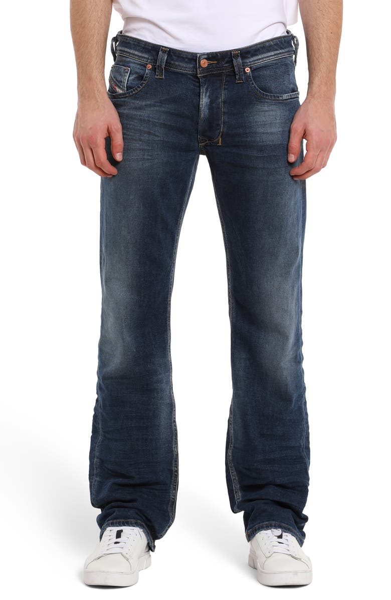 DIESEL<SUP>®</SUP> Larkee Relaxed Fit Jeans, Main, color, MED BLUE