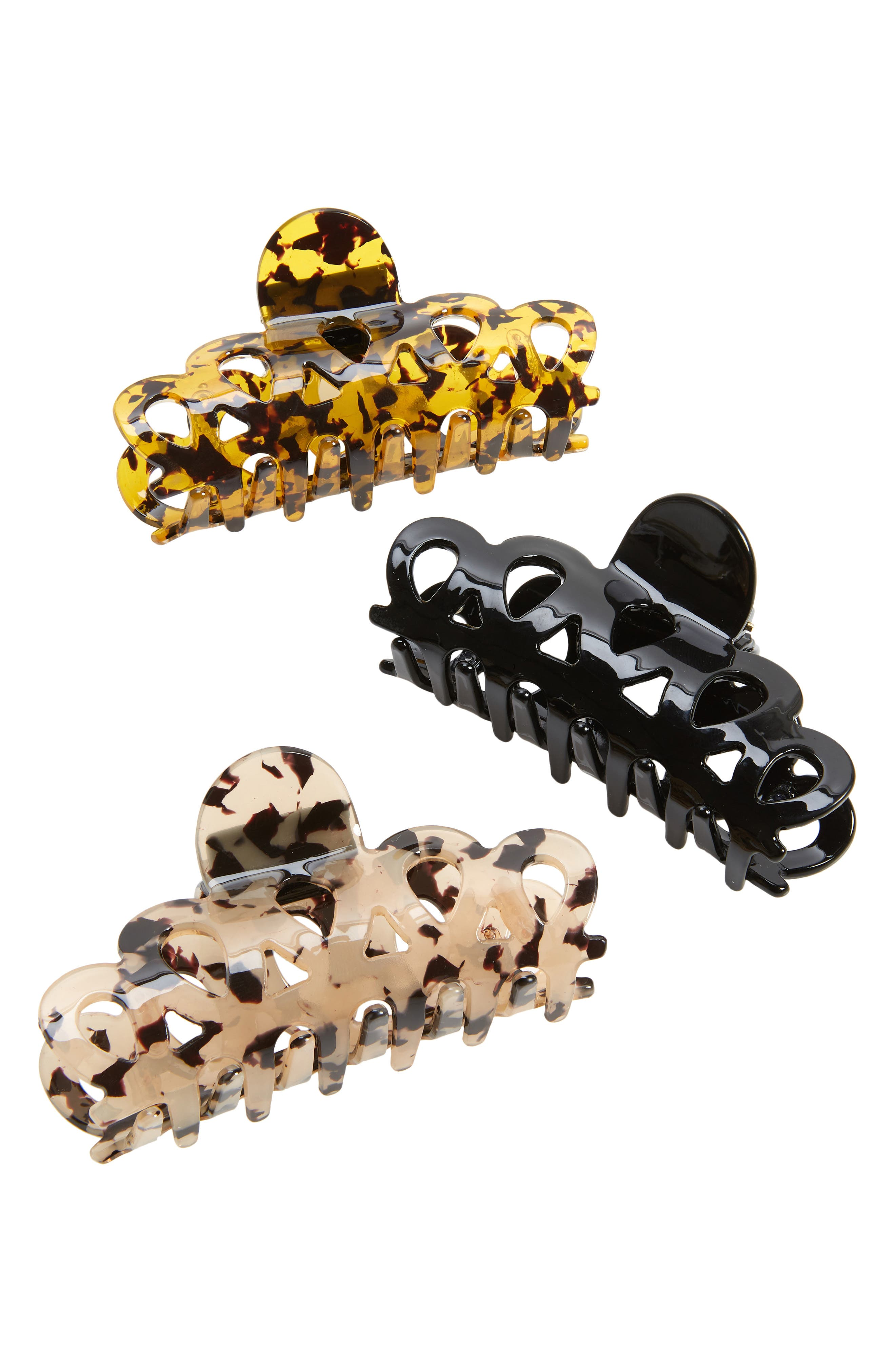 Assorted 3-Pack Jaw Hair Clips