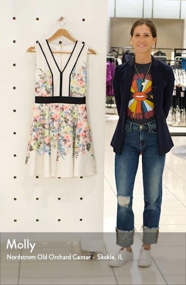 Solarh Pergola Print Floral Sleeveless Fit & Flare Dress, sales video thumbnail