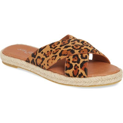 Jslides Reva Slide Sandal- Brown