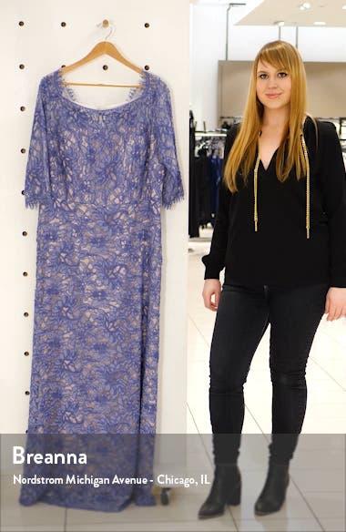 Bateau Neck Lace Gown, sales video thumbnail