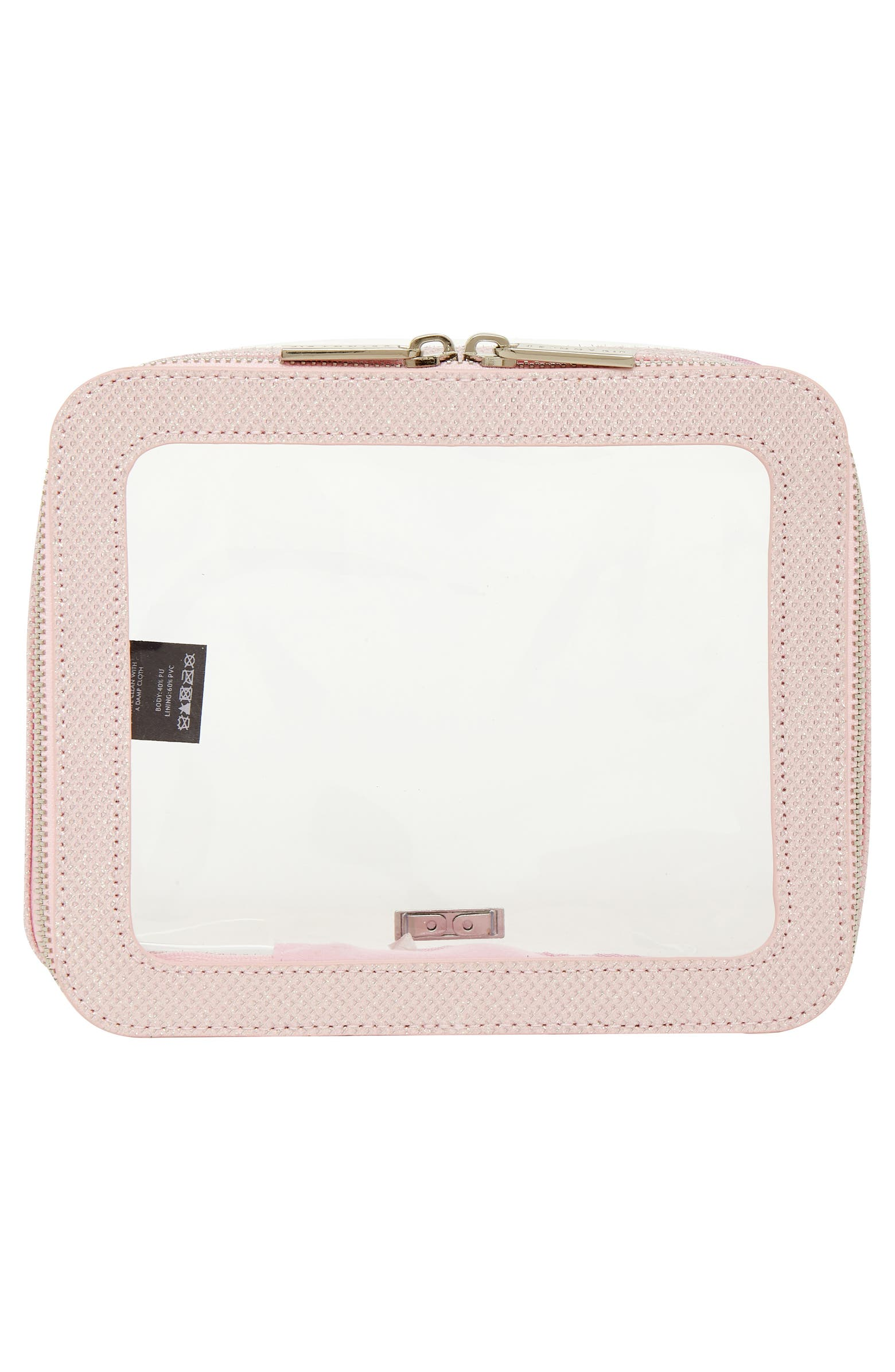 Clear Panel Travel Makeup Bag