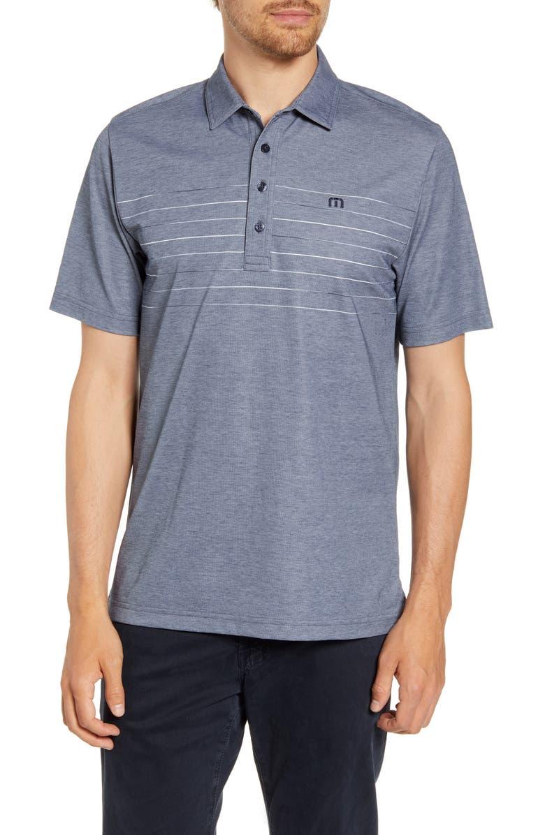 TRAVISMATHEW Good Good Polo Shirt, Main, color, HEATHER MOOD INDIGO