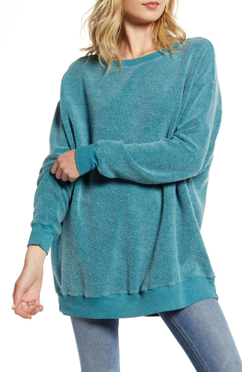 WILDFOX Roadtrip Fleece Sweatshirt, Main, color, TIDE