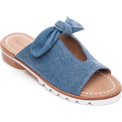 Bernardo Alice Bow Slide Sandal- Blue