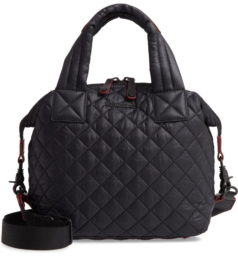 MZ WALLACE Small Sutton Bag, Main, color, BLACK/ BLACK