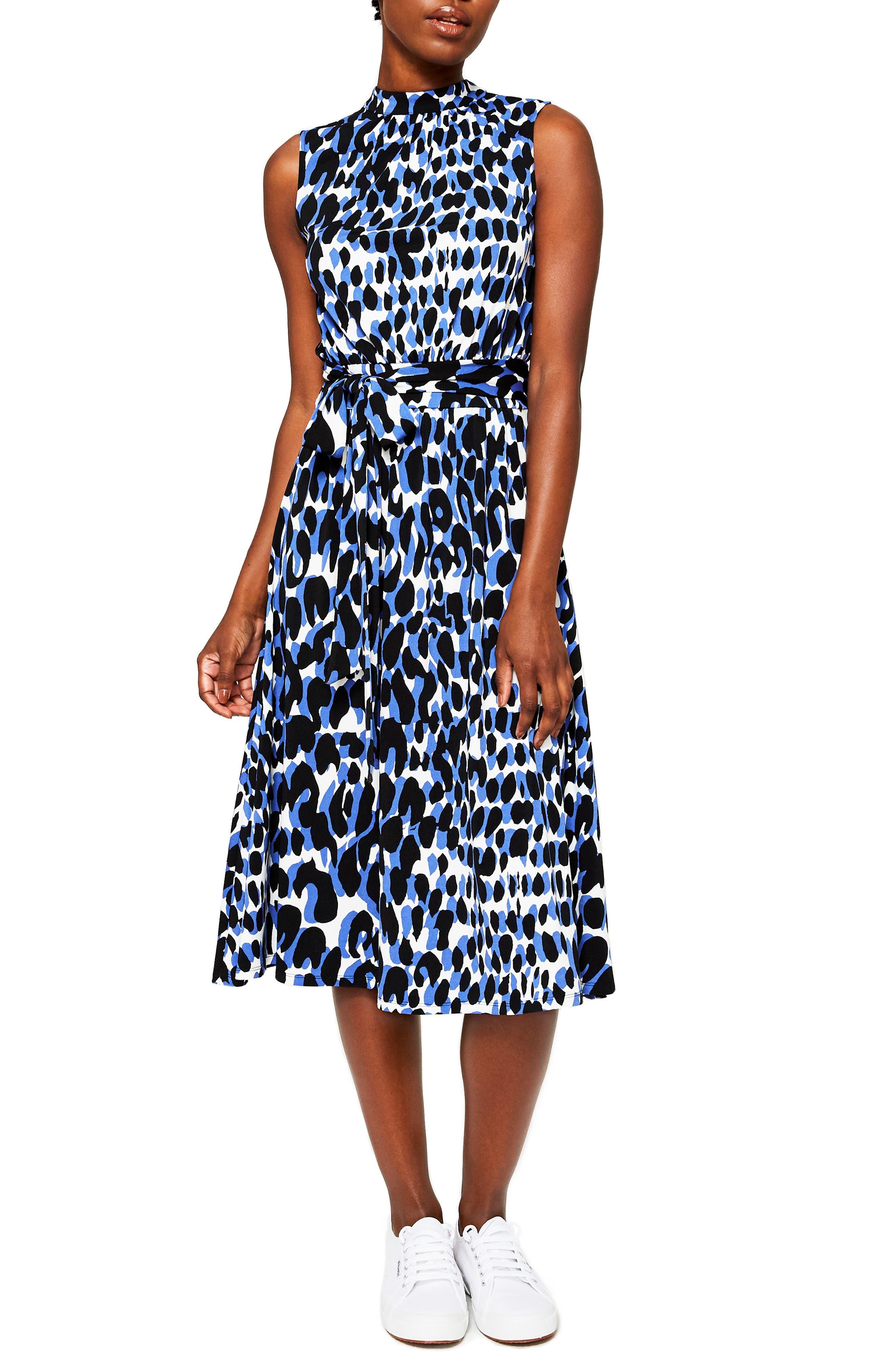Mindy Print Midi Dress