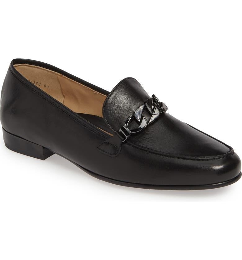ARA Kaelin Loafer, Main, color, BLACK NAPPA LEATHER