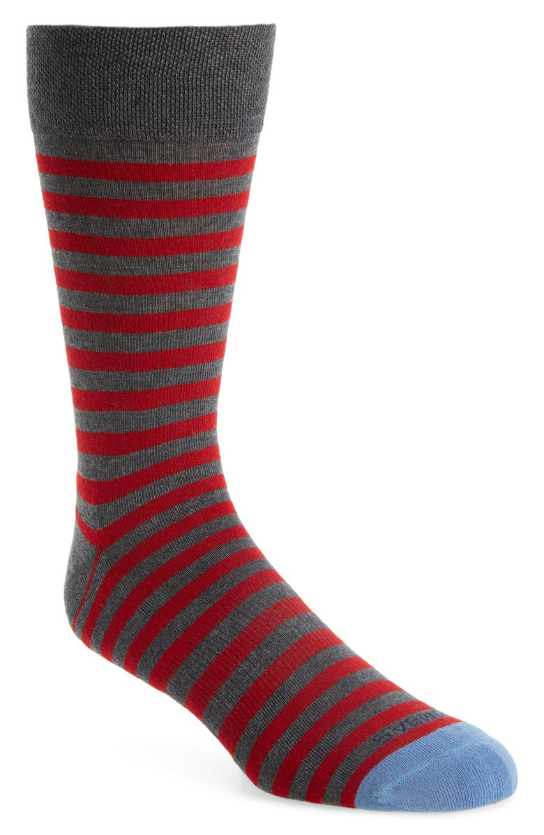 BOMBAS Nautical Stripe Dress Socks, Main, color, 023
