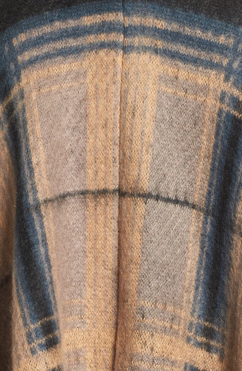 TREASURE & BOND Treasure&Bond Plaid Poncho, Main, color, 235